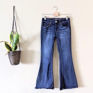 AMERICAN EAGLE Boho Artist Flare Jeans Size 4